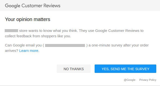 40f2544101 Google Customer Reviews (previously Trusted Stores) - Magento Extension
