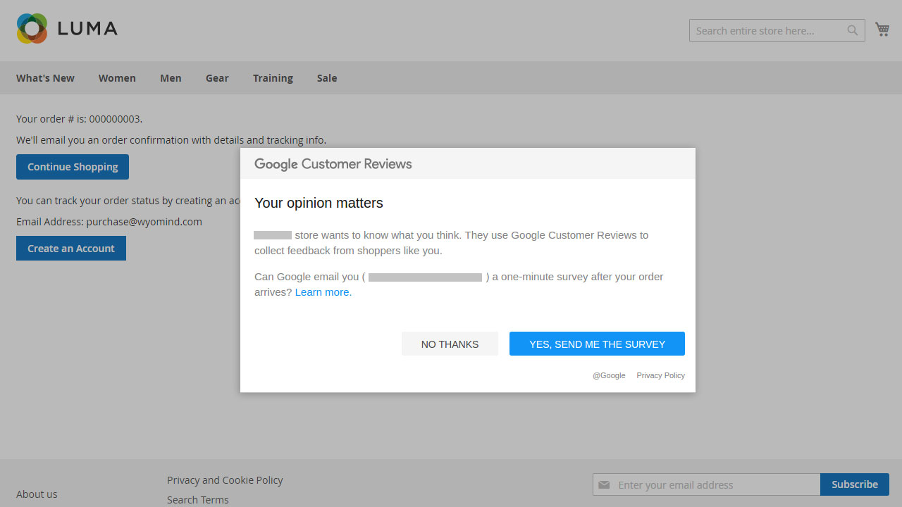 Google Customer Reviews (previously Trusted Stores) - Magento Extension