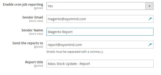 Mass Stock Update
