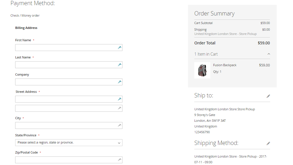 Magento Store Pickup Extension For Magento - Invoice online free buy online pickup in store